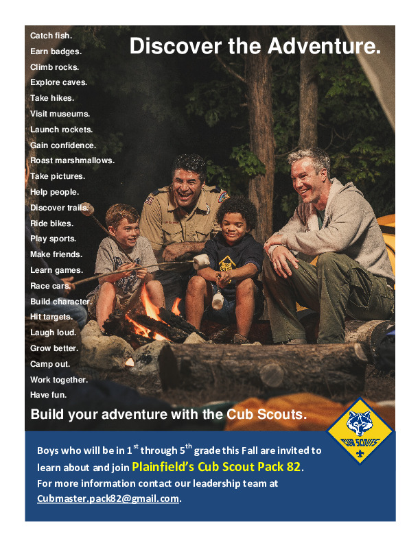 Cub Scout Pack 82 Registration and Information