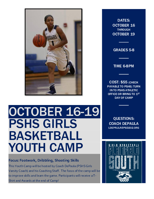 Plainfield South Girls Basketball Middle School Camp