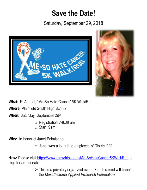 """Me-So Hate Cancer"" 5K Walk/Run"
