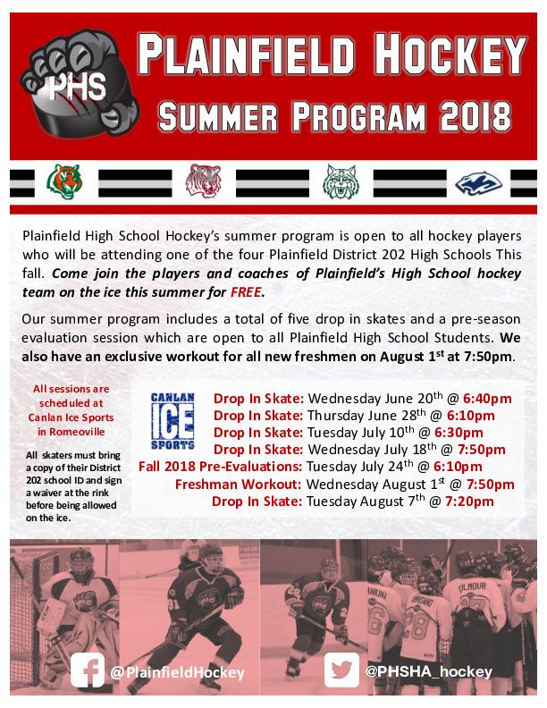 Plainfield High School Hockey Summer Skates