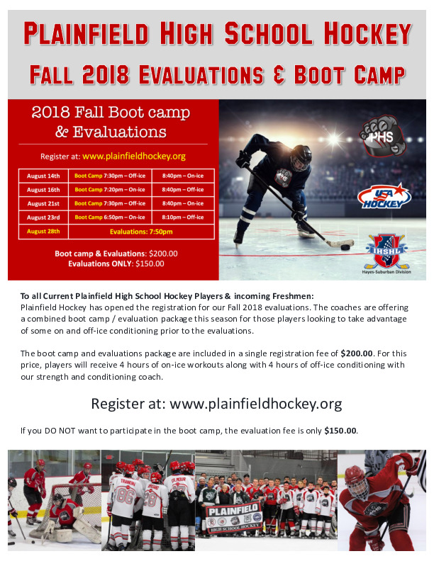 Plainfield High School Hockey Evaluations