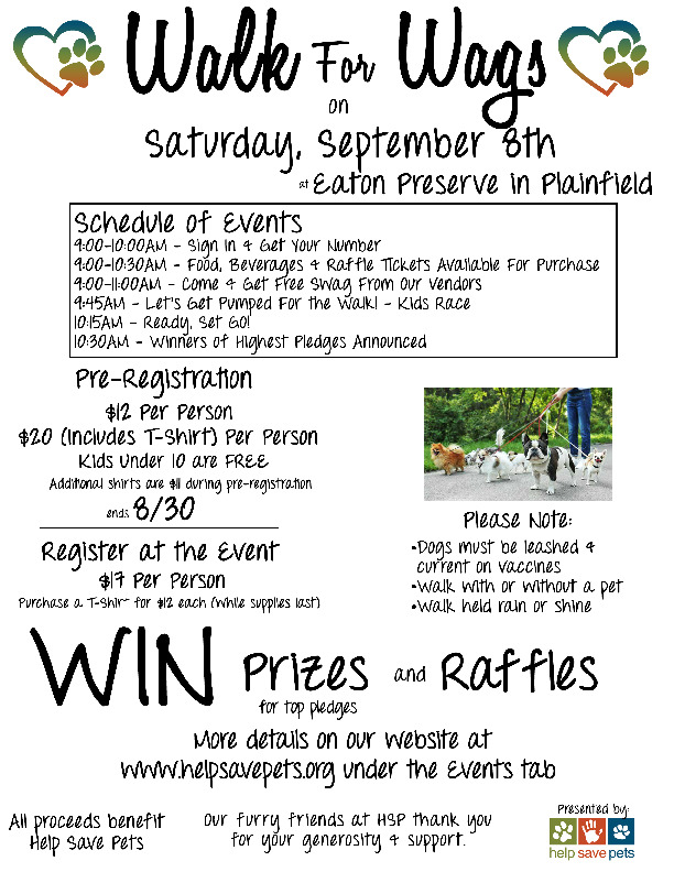 Walk For Wags - Help Save Pets Rescue Group