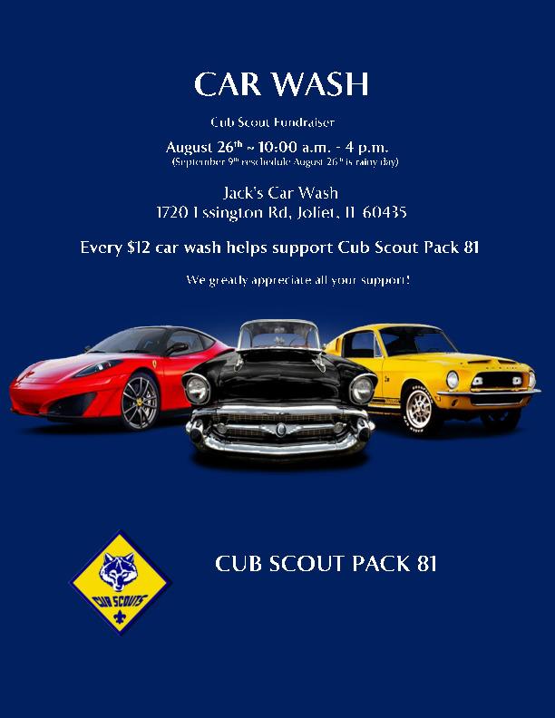 Cub Scout Pack 81 Car Wash Fundraiser