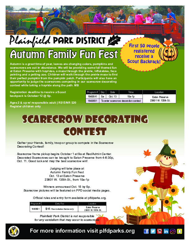 Autumn Family Fun Fest: Plainfield Park District