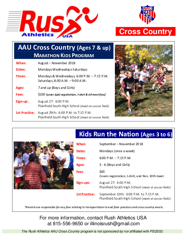 Rush Athletics USA -  AAU Cross Country Program
