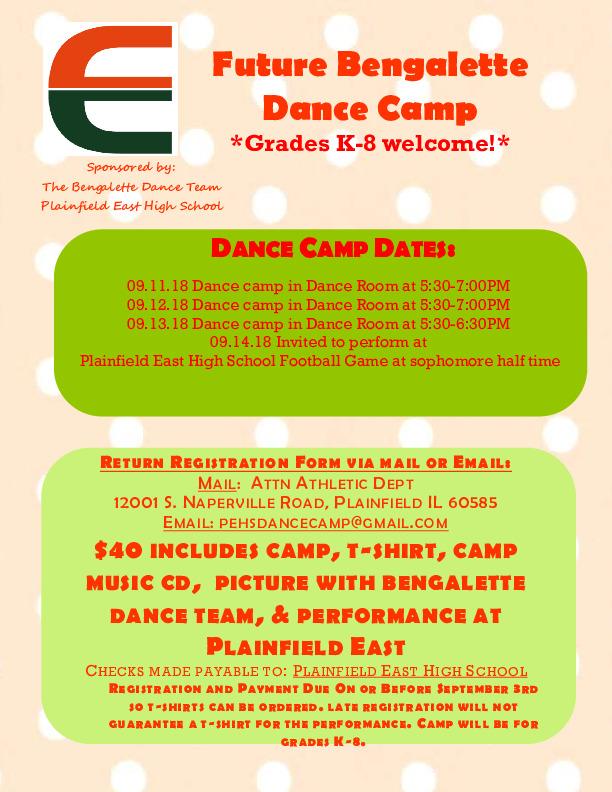 Plainfield East Kiddie Dance Camp