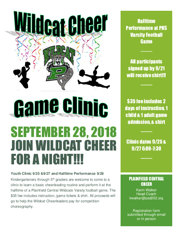 Plainfield Central Cheerleaders Mini-Clinic