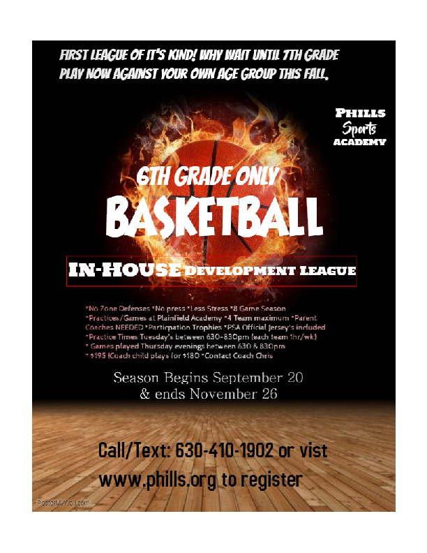 6th Grade Only Basketball LEAGUE