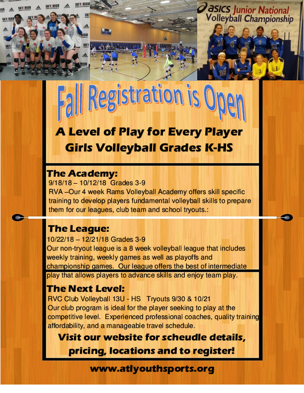 Girls Fall Volleyball