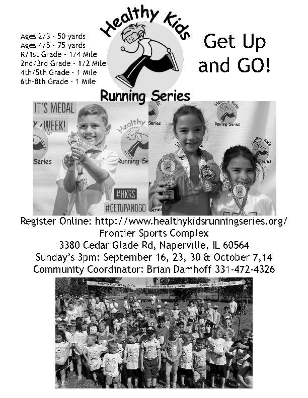 Healthy Kids Running Series Held on Sundays @ Frontier Park Naperville IL