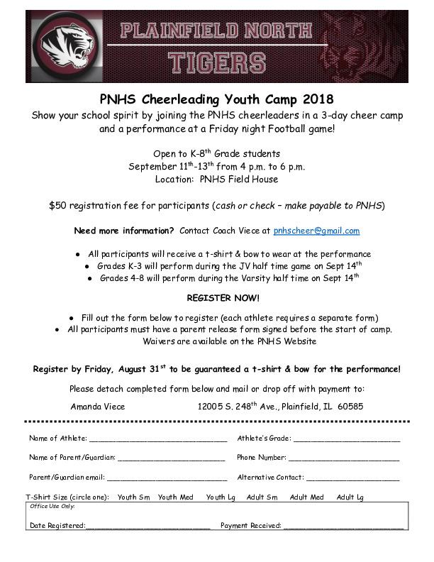 PNHS Cheerleading Camp