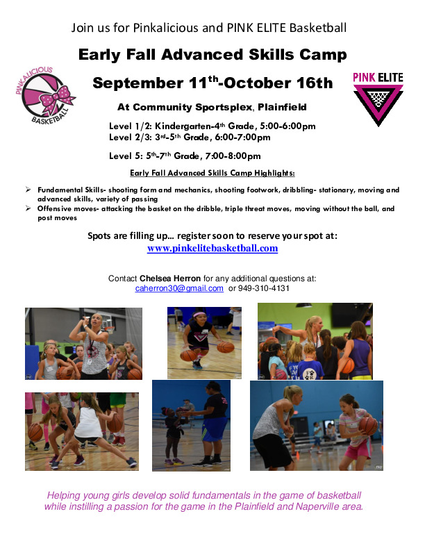 Pinkalicious & PINK ELITE Early Fall Advanced Skills Camp