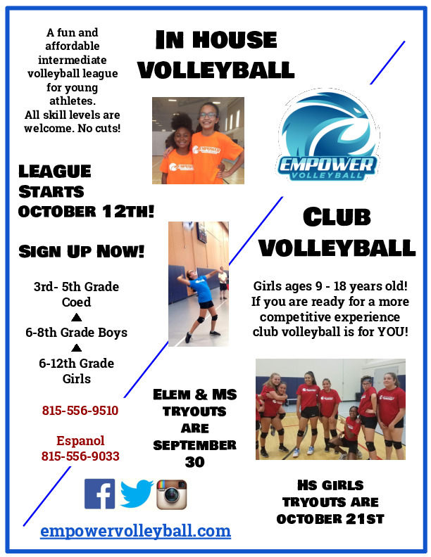 Empower Volleyball Fall Programs