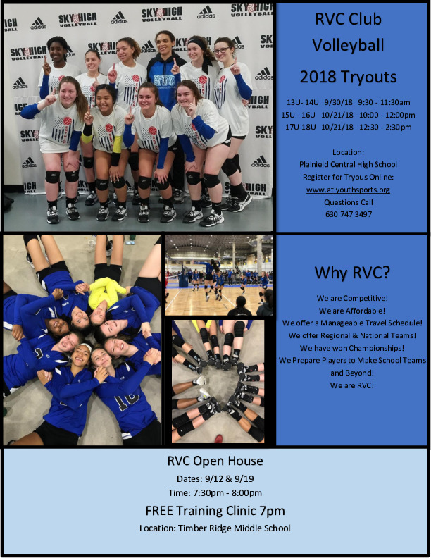 RVC Club Volleyball Open House Free Clinic