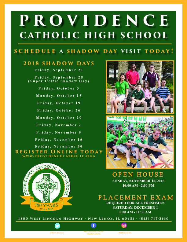 Providence Catholic Shadow Days