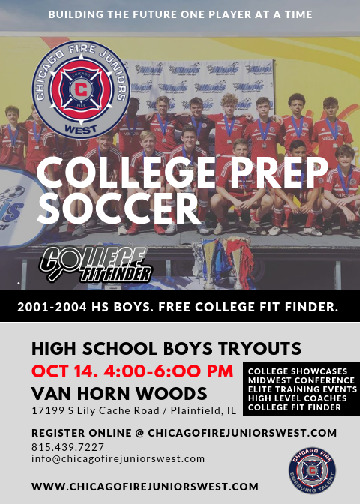 Chicago Fire Juniors West High School Boys Tryouts