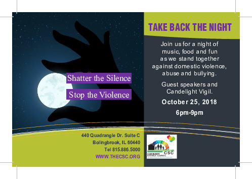Take Back the Night presented by Community Service Council, Bolingbrook, IL