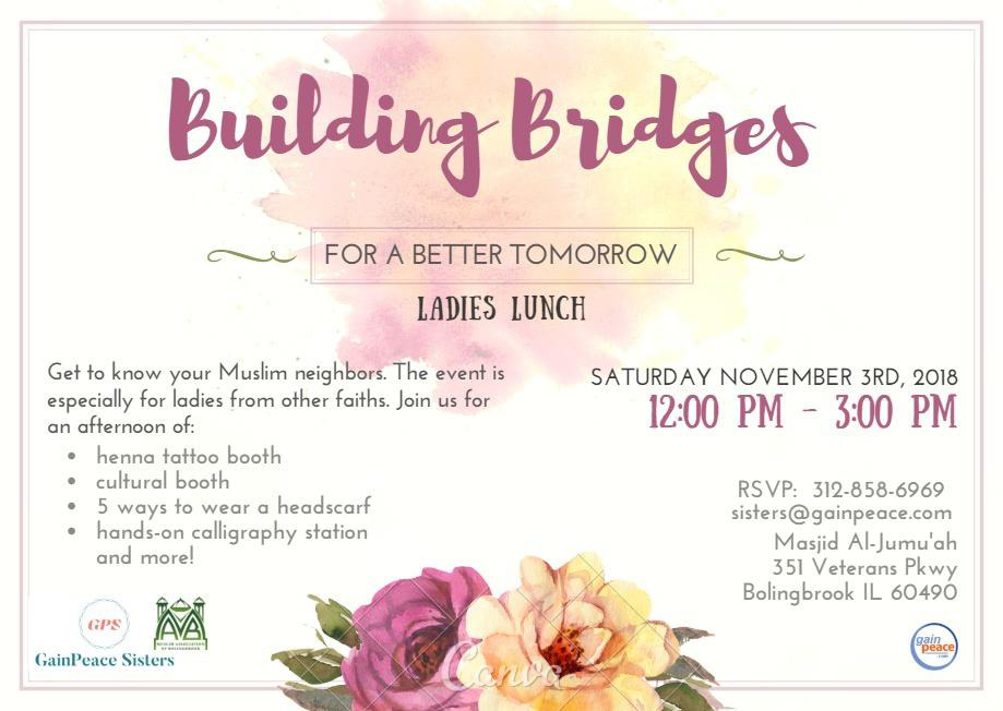 Interfaith Ladies Lunch with the ladies of The Muslim Association of Bolingbrook