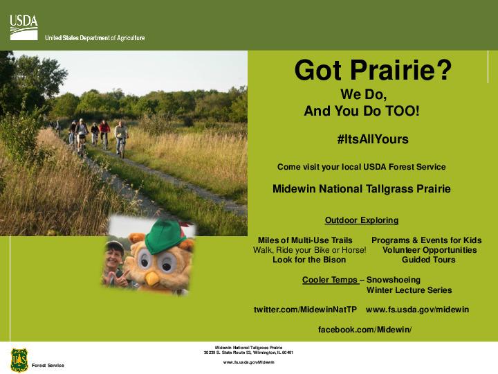 Got Prairie? Midewin National Tallgrass Prairie