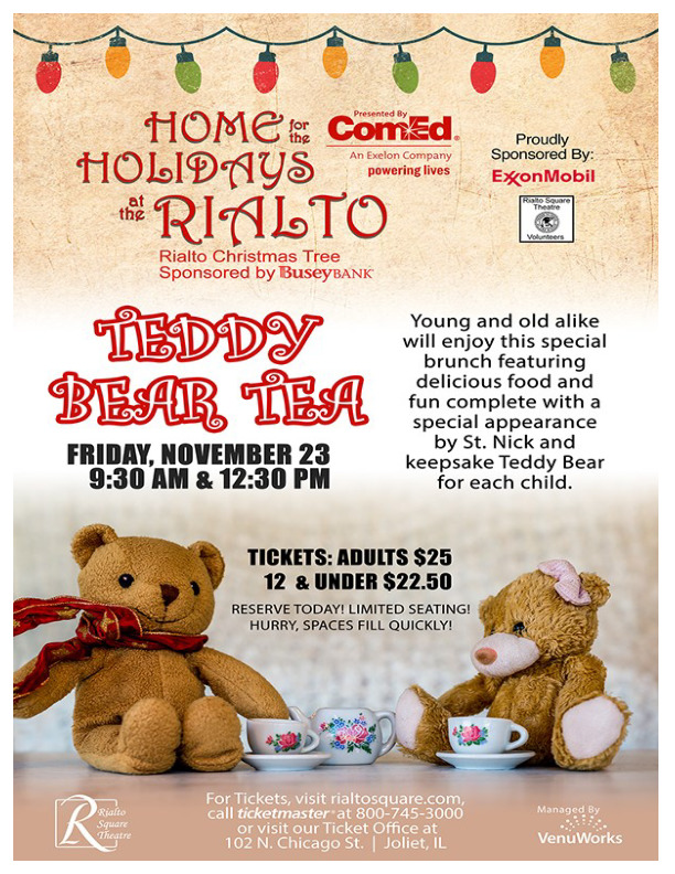 Teddy Bear Tea at the Rialto Square Theatre in Joliet, IL