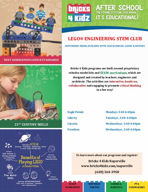 Lego Engineering Club - Grades 1 through 5