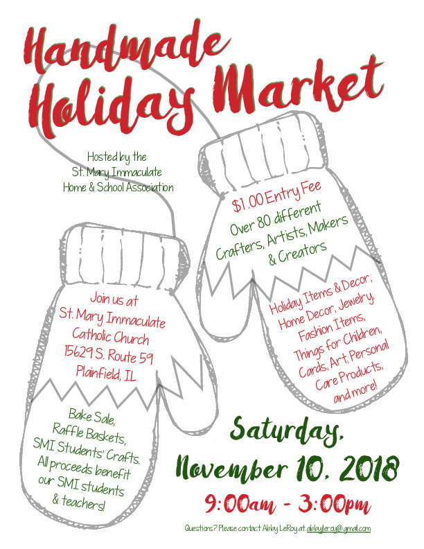 St. Mary Immaculate Church 2018 Handmade Holiday Market