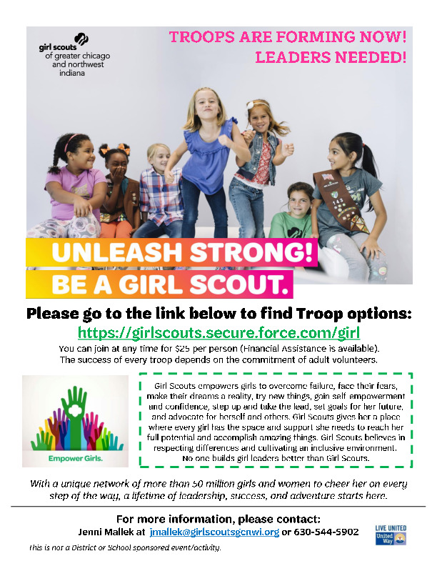 Join Girl Scouts in Plainfield!
