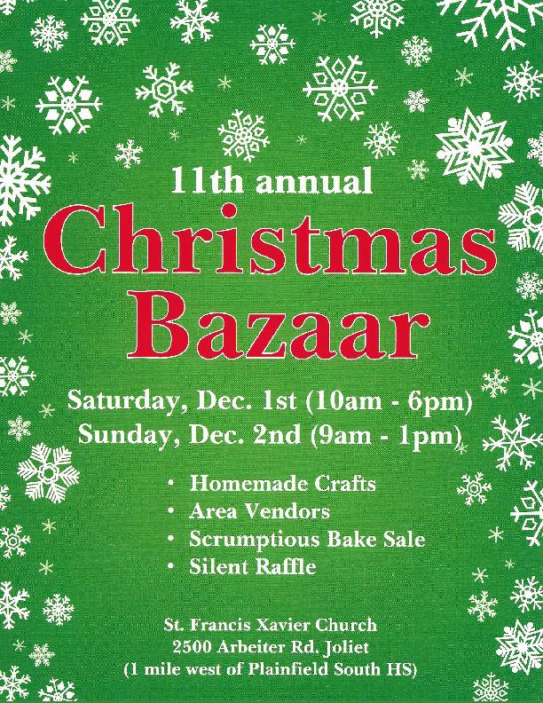 St. Franics Xavier 11th Annual Christmas Bazaar
