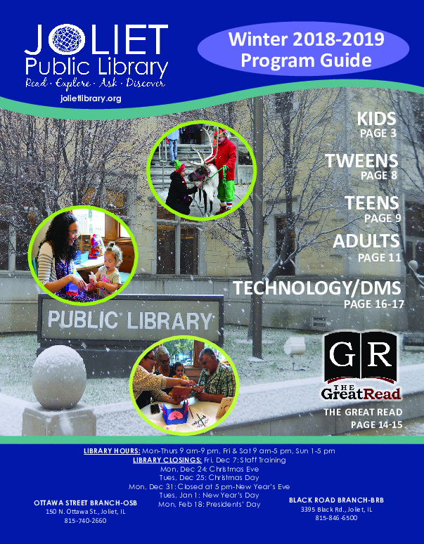 Joliet Library Winter Program Guide