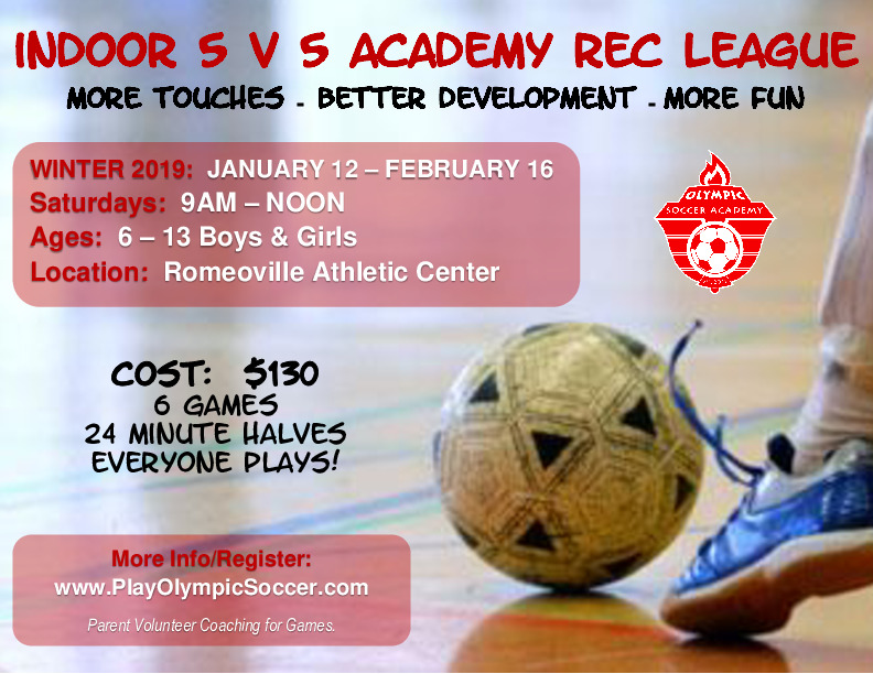 Indoor 5v5 Soccer League