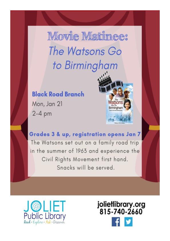 Movie Matinee - The Watsons Go to Birmingham