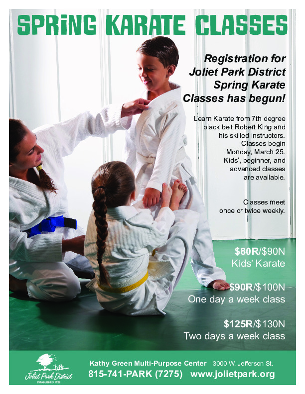 Spring Karate Classes at the Joliet Park District