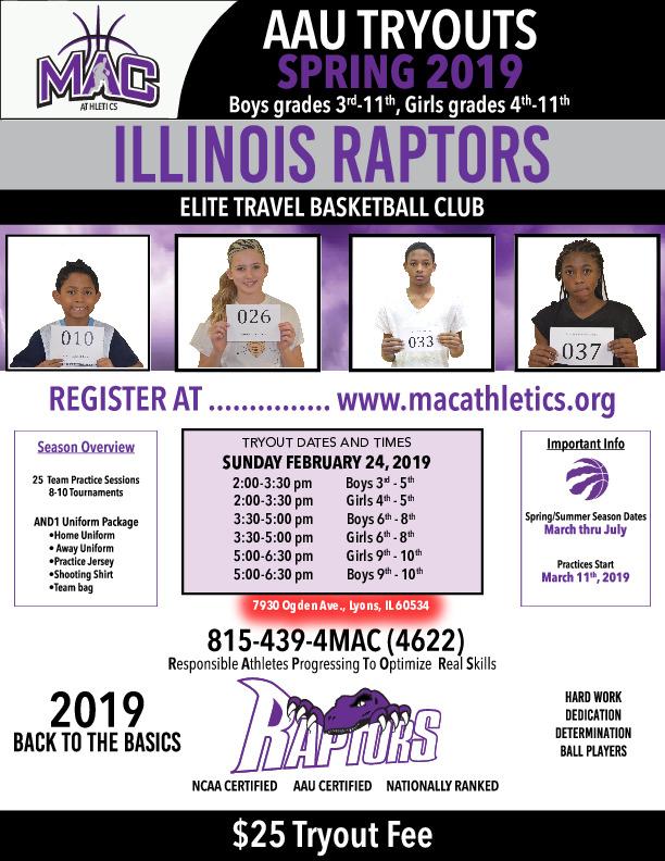Raptors Basketball Tryouts