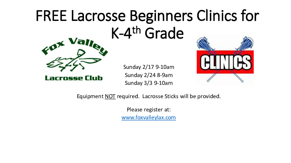FREE Lacrosse Beginners Clinics