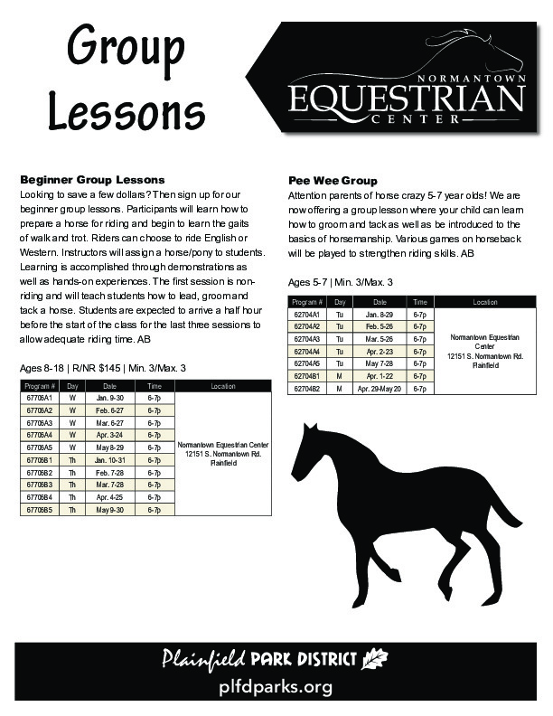 Equestrian Center Group Lessons