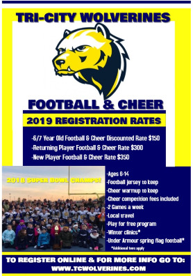 Tri-City Wolverines Youth Football and Cheer