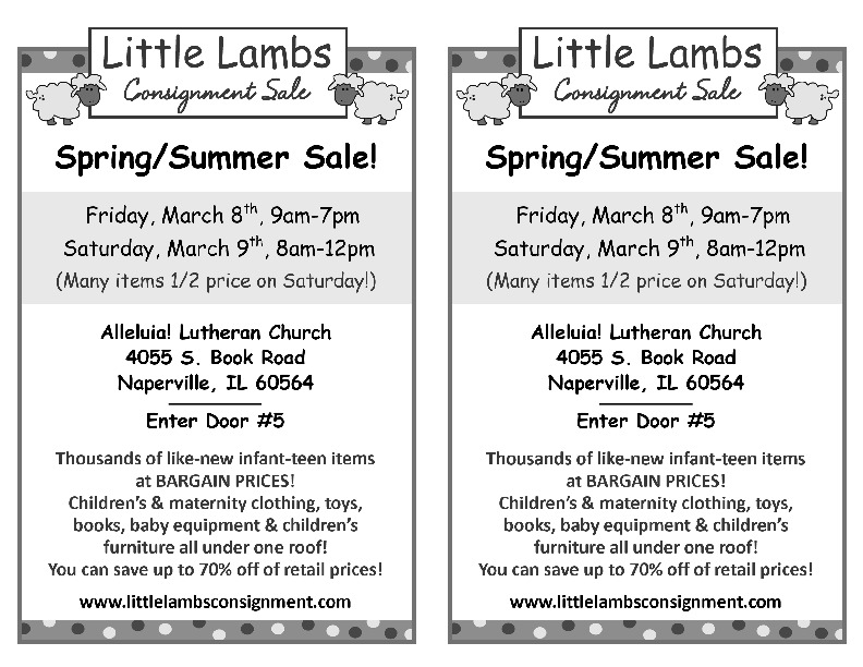 Little Lambs Consignment Sale