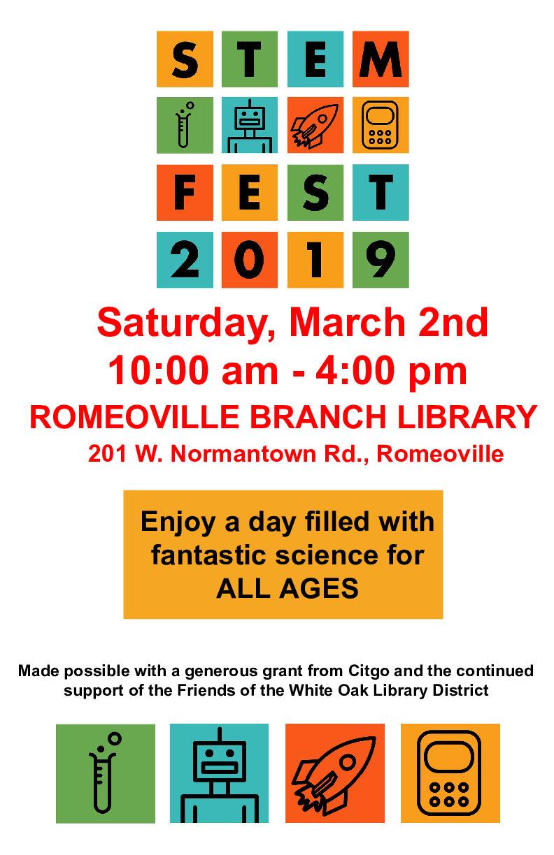 White Oak Library District STEM Fest - Romeoville Branch Library