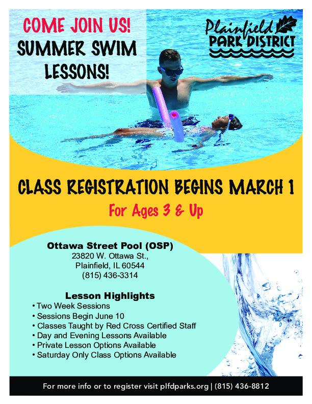 Summer Swim Lessons: Plainfield Park District