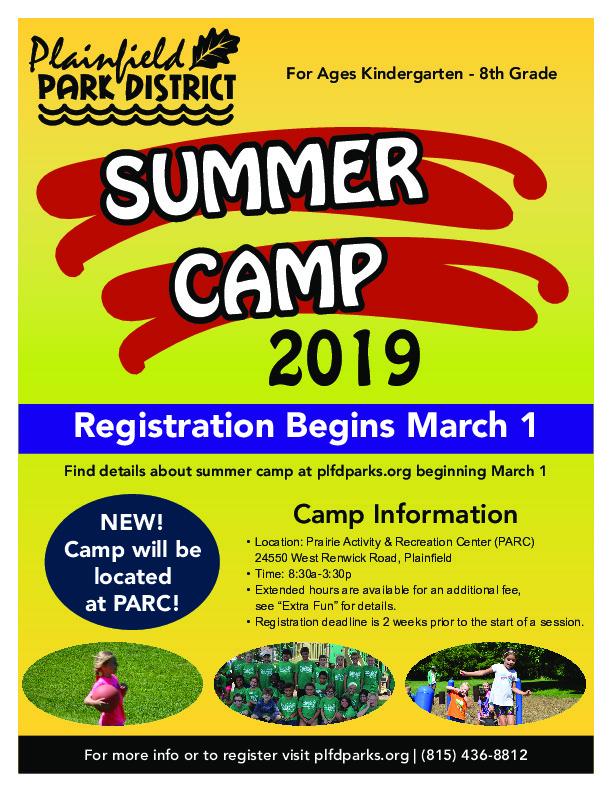 Summer Camp Registration: Plainfield Park District