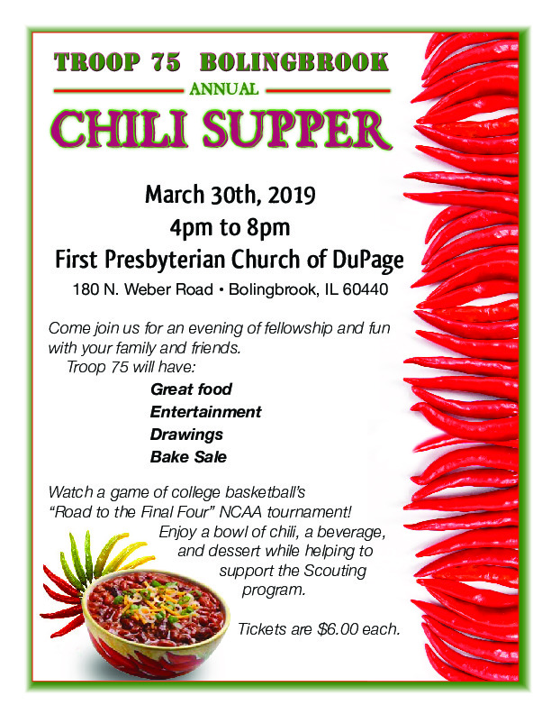 Troop 75's Annual Chili Supper