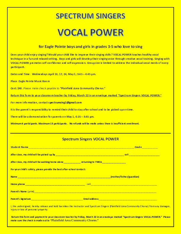 Spectrum Singers Vocal Power