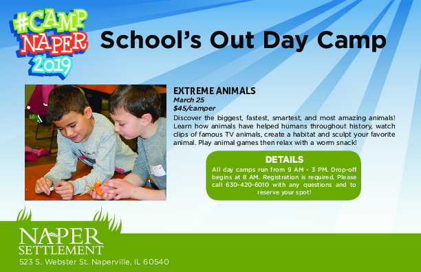 Naper Settlement: School's Out Day Camp- Extreme Animals