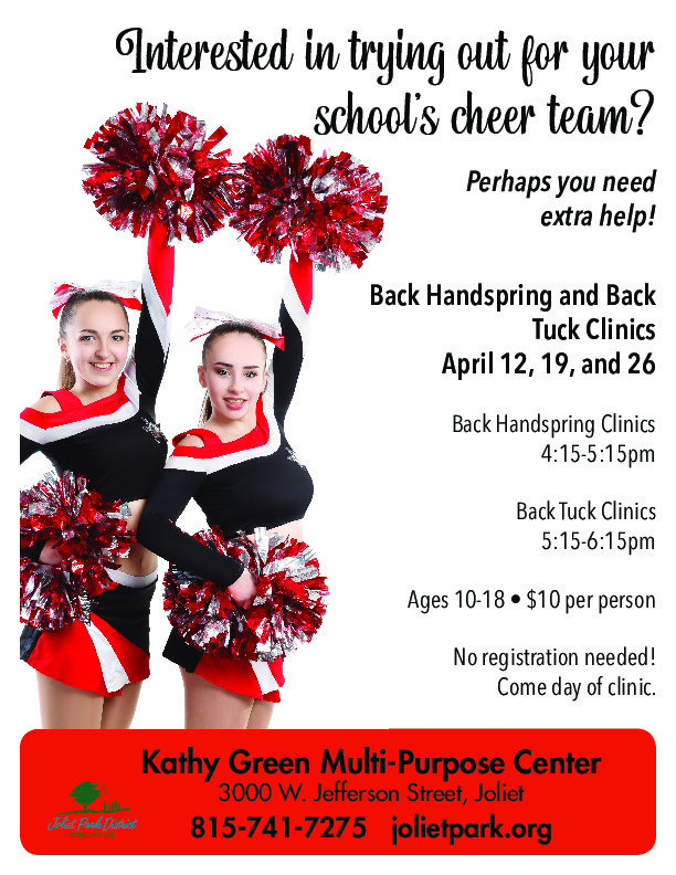 Cheer Clinics held at the Joliet Park District