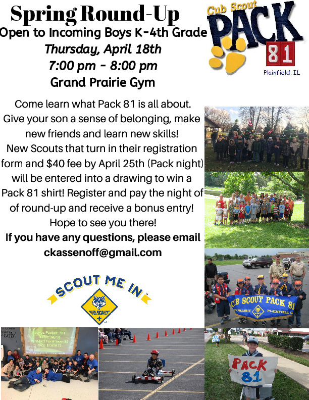 Cub Scout Pack 81 Round Up