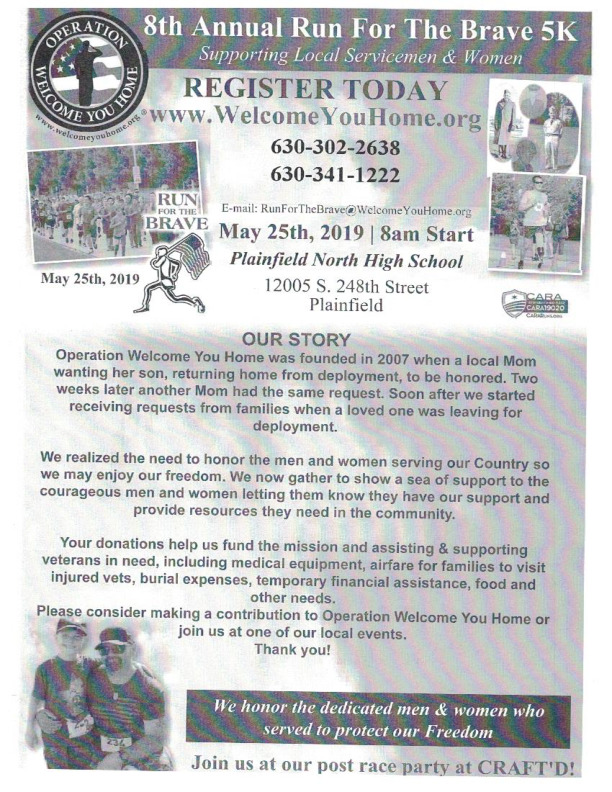 8th Annual Run For The Brave 5K - Operation Welcome You Home, NFP