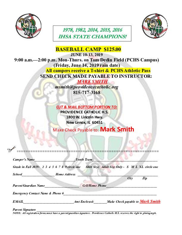 Providence Cathollic Summer Baseball Camp