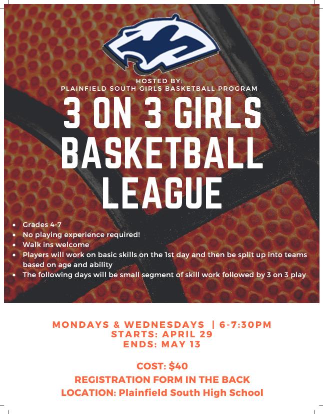3 on 3 Girls Basketball League