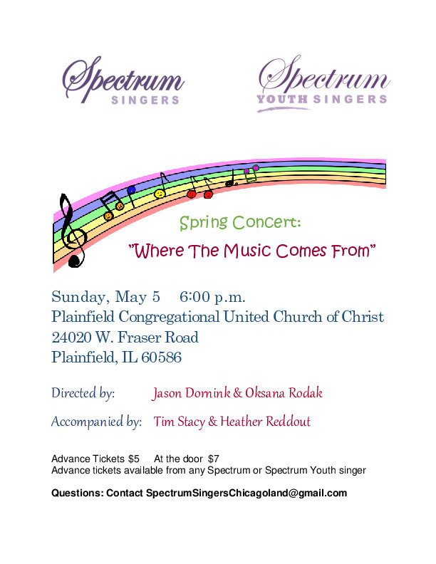 Spectrum Youth Singers Spring Cncert