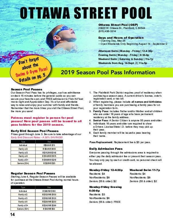 Plainfield Park District: Swim Lessons